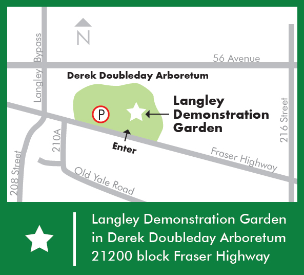 Langley Demonstration Garden Map