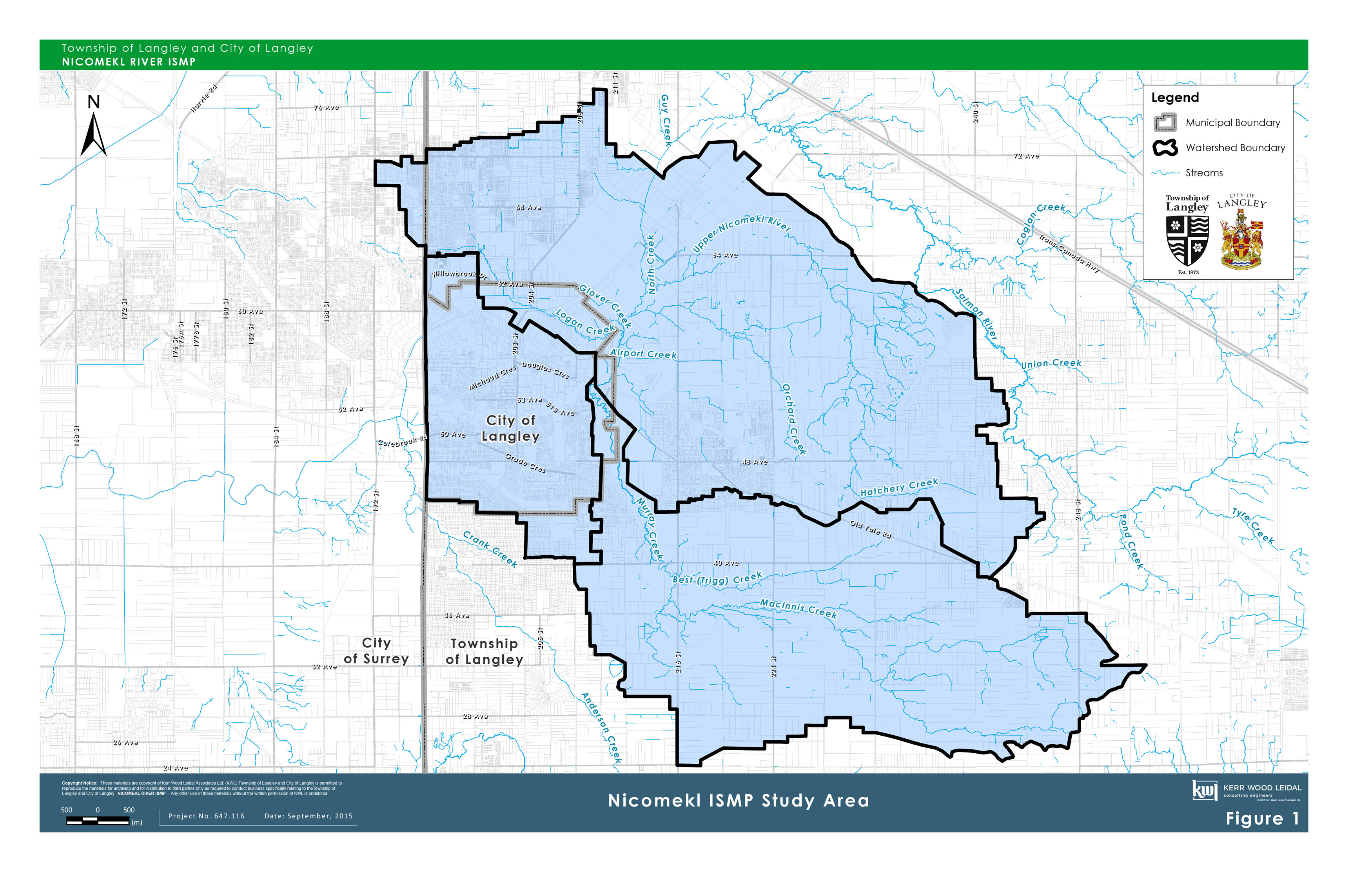 Nicomekl River Integrated Stormwater Management Plan Map