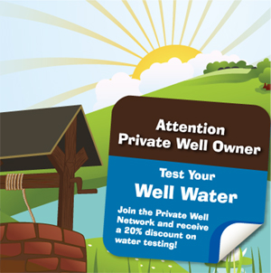 Test Your Water Well Sticker